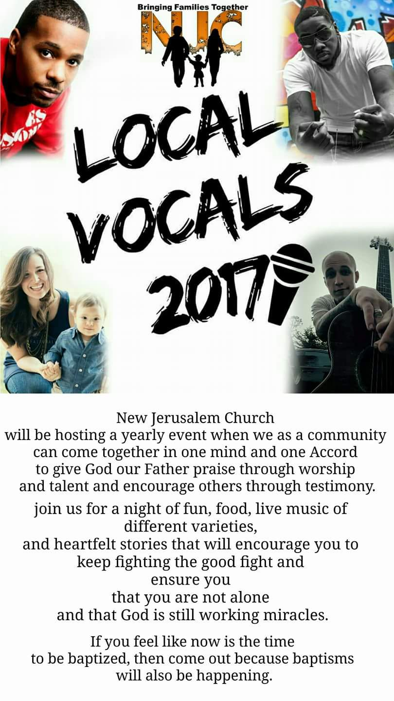 NJC presents… Local Vocal 2017 : 3pm, Sat. Aug 12th – Defiance, Ohio