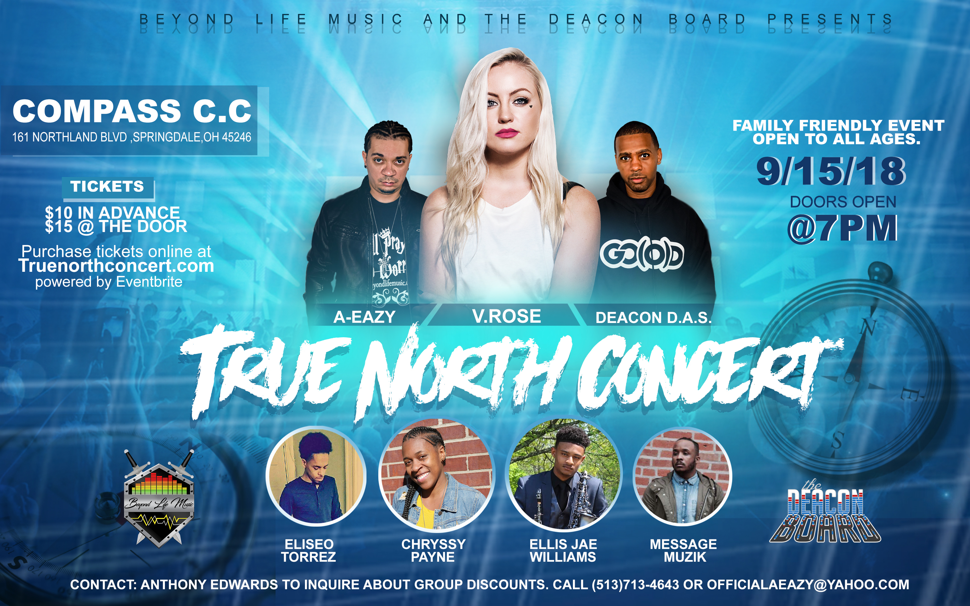 True North Concert – V.Rose + Deacon D.A.S. : Cincinnati, OH – Sat. Sept15th, 2018