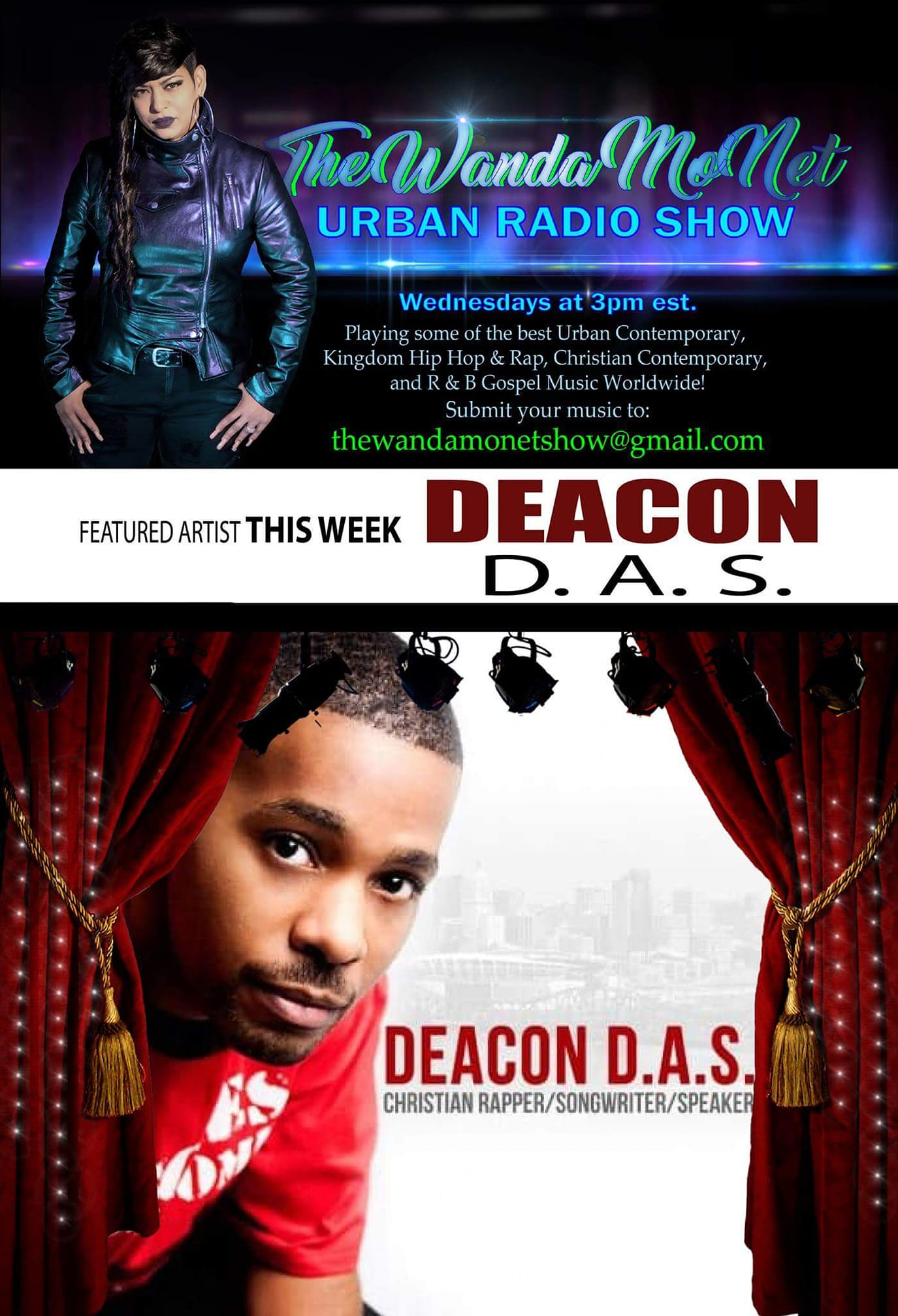Deacon D.A.S. – Artist of the week : The Wanda Mo'net Urban Radio Show