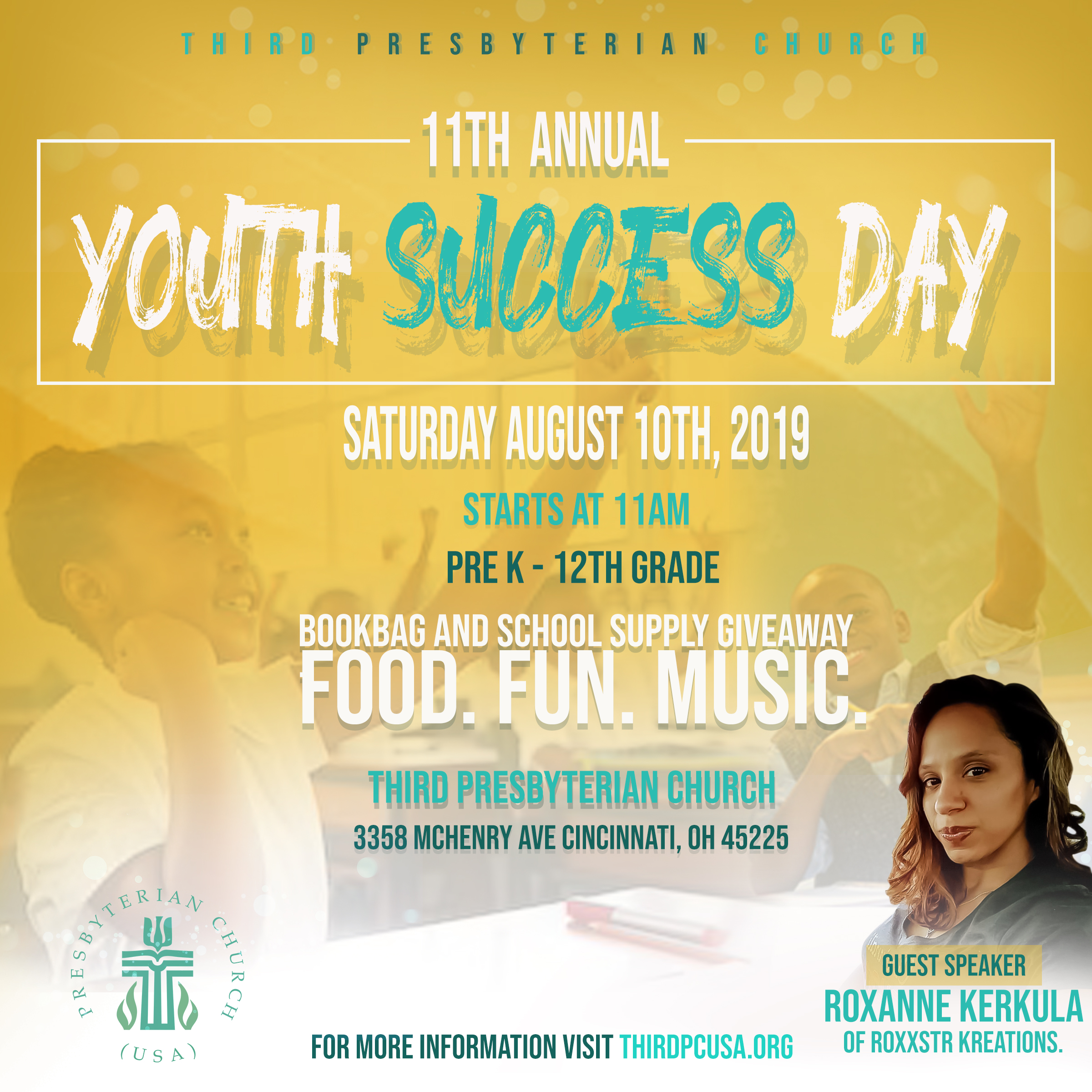 Third PCUSA presents… 11th Annual Youth Success Day : Sat. Aug 10th – Cincinnati, OH