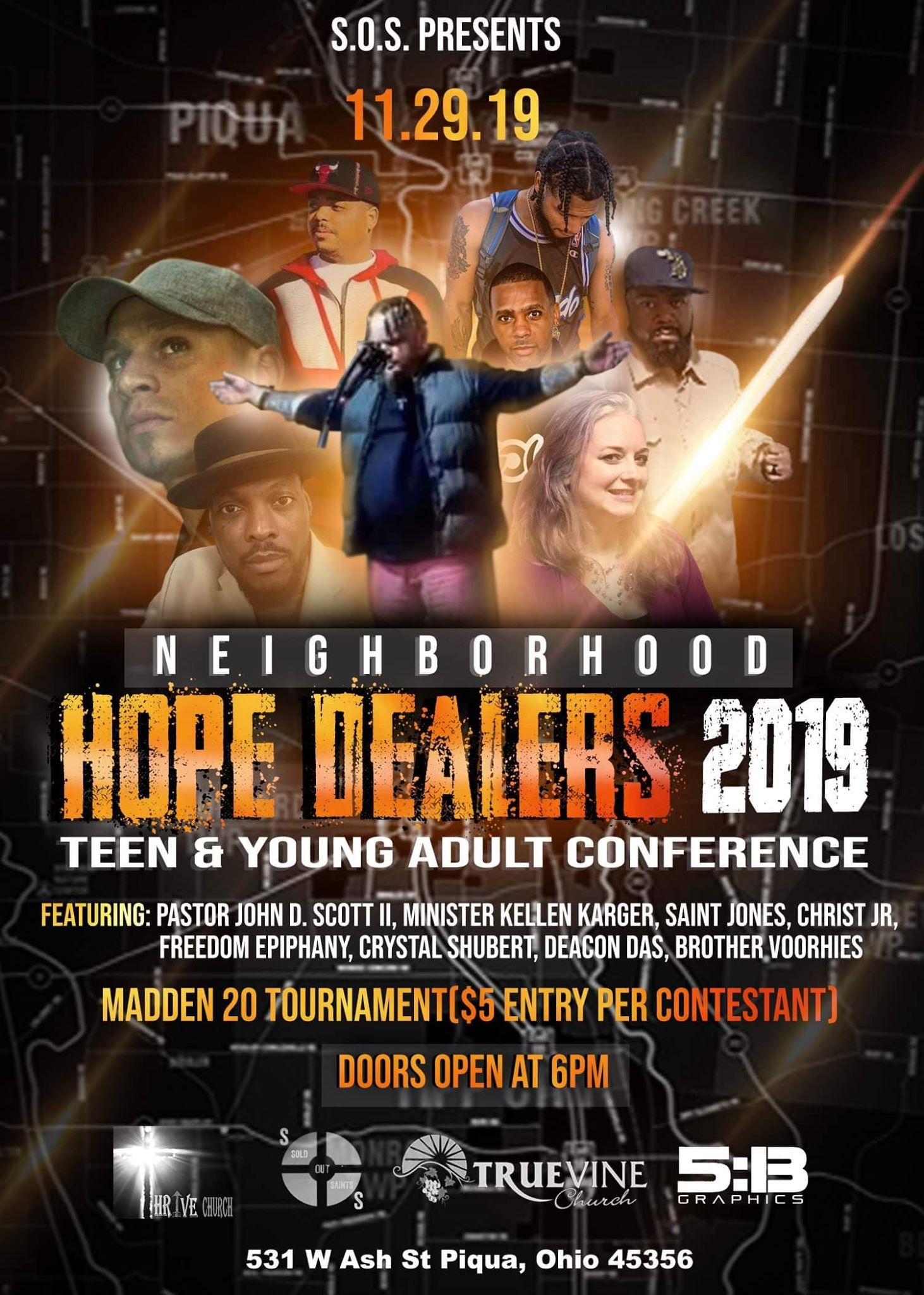 S.O.S. & True Vine Church – Hope Dealer Conference 2019 : Fri. Nov 29th – Piqua, OH